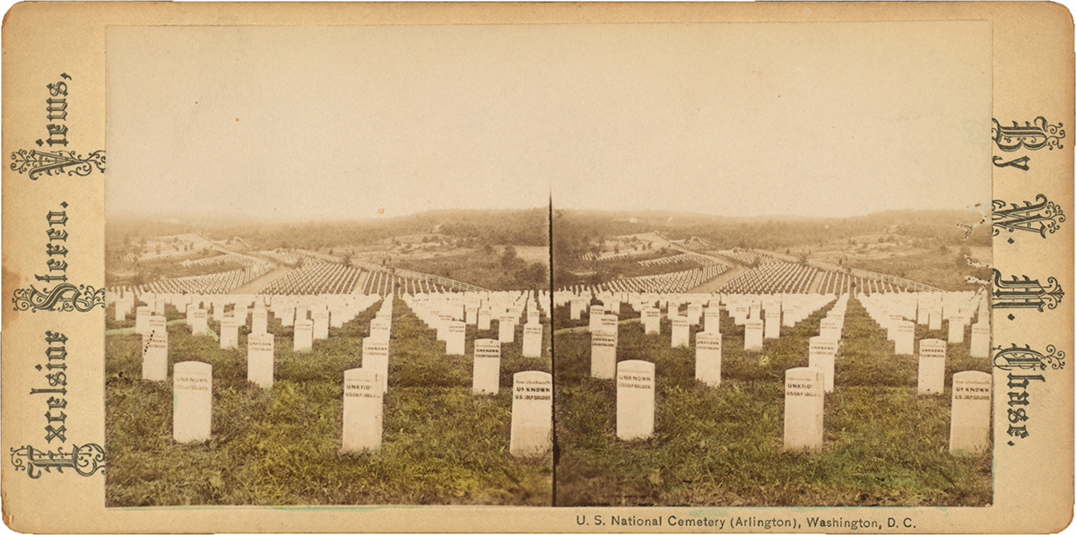Memorial U. S. National Cemetery (Arlington), Washington, D.C., date and photographer unknown. From The Miriam and Ira D. Wallach Division of Art, Prints and Photographs: Print Collection, The New York Public Library, Digital Collections