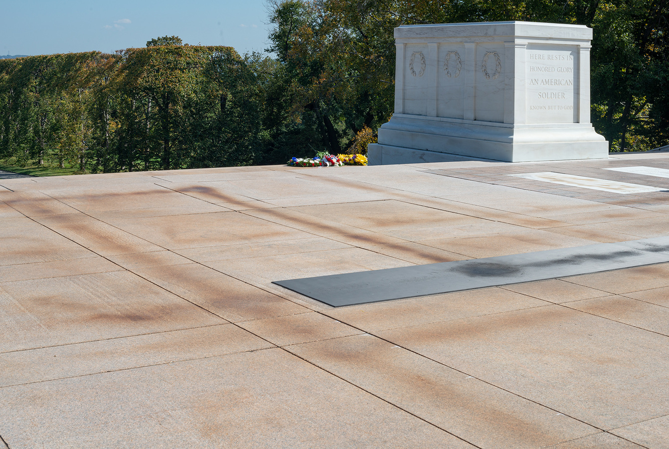 Memorial Tomb of the Unknown Solider, completed in 1931 of Vermont Marble Company Yule Marble, quarried in Colorado