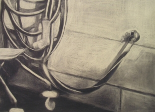 JENNA PALLIO Works on paper Charcoal on paper
