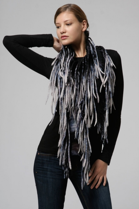 Wearable Art: Harlequin Feltworks Tendril Scarf