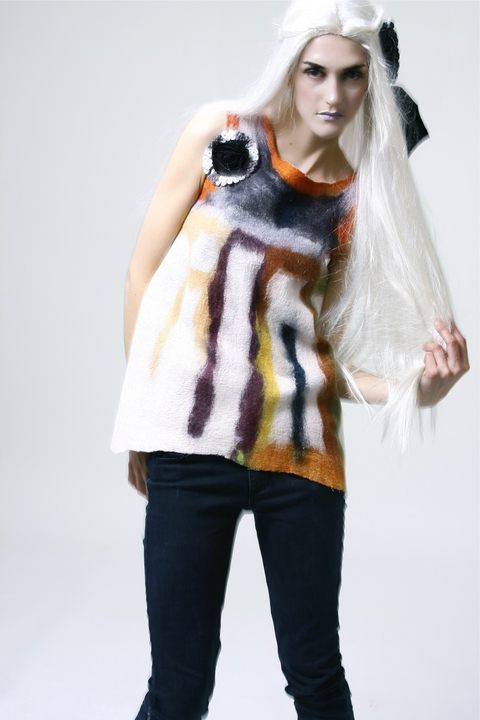 Wearable Art: Harlequin Feltworks Top