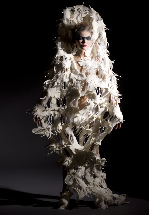 Wearable Art: Harlequin Feltworks Cocoon (Improv)