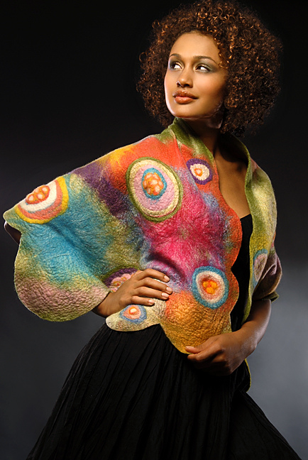 Wearable Art: Harlequin Feltworks Color Wrap