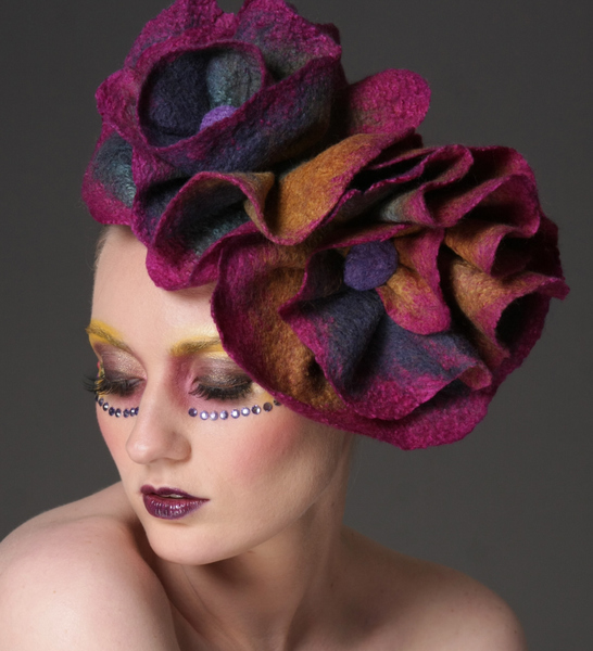 Wearable Art: Harlequin Feltworks Fascinator