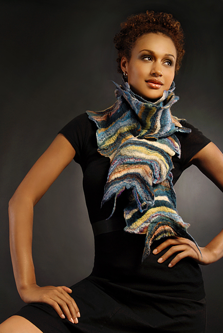 Wearable Art: Harlequin Feltworks Earth Scarf