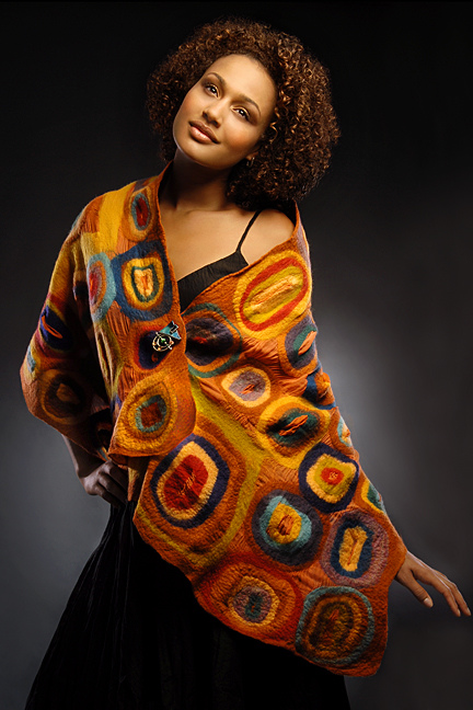 Wearable Art: Harlequin Feltworks Concentric Wrap