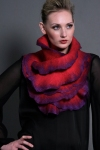 Wearable Art: Harlequin Feltworks merino wool, silk