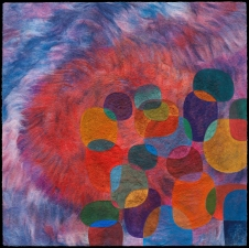 Jenne Giles Felt Paintings: Convivial Series merino wool, silk, mixed media