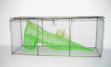 Jennie Nichols Shoes Wire, Green Paint