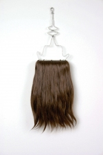 Jennie Nichols Hair Wire Coat Hanger, Human Hair, Thread, Wire