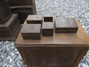 Jennie Nichols Stacked Cases and Boxes Microcrystalline wax