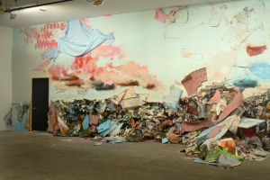 JENNILIE BREWSTER INSTALLATIONS HOUSE PAINT, NEWSPAPERS, BUILDING MATERIALS, AND JUNK FOUND ON SITE