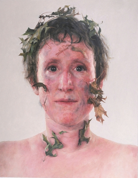 2005 Self-portrait With Dirt and Leaves