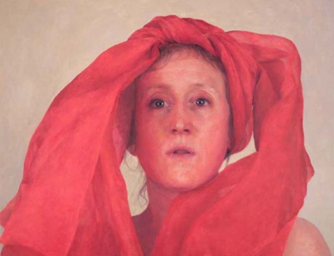 2006 Self-Portrait Wearing Red Scarf
