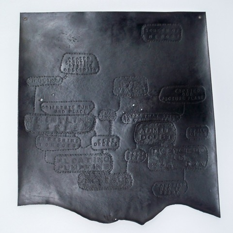 Skins tooled leather + ink
