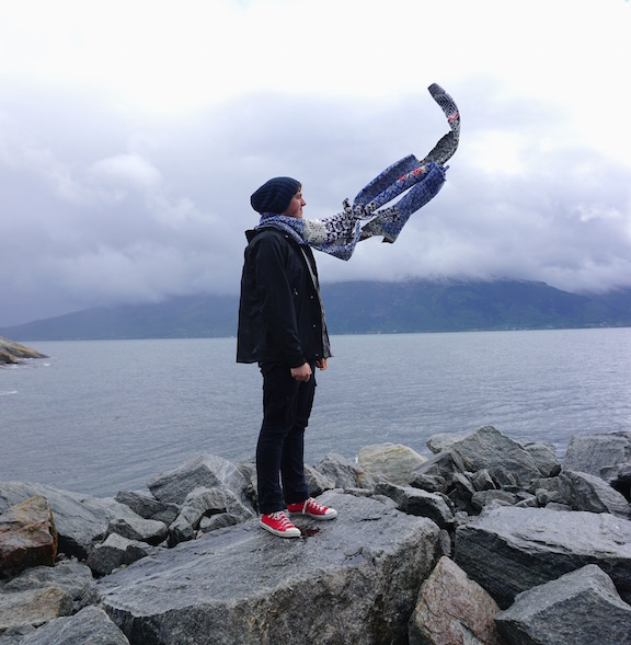 2015 . How to Wear a Hardangerfjord Norwegian wool knit + worn by artist Mads Werner Nordbø Nødtuedt (NO)