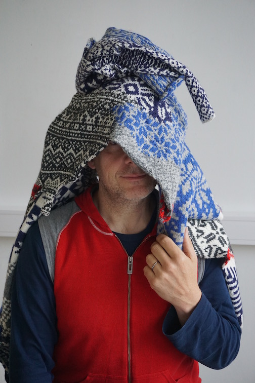 2015 . How to Wear a Hardangerfjord Norwegian wool knit + worn by artist Hans Pulles (NL.NO)