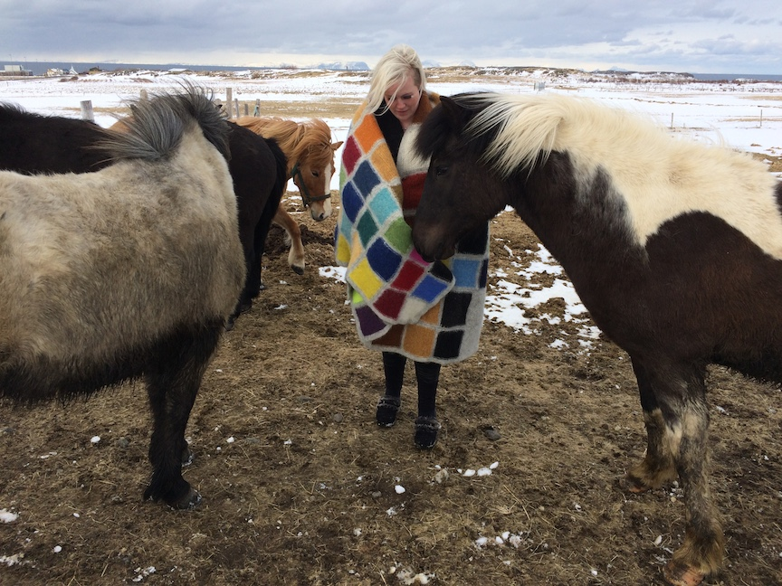 J E N   P E P P E R  2015 . Development of Color Ranges through the Ages Icelandic wool knit, felted + worn by Àslaug Ott (IS)
