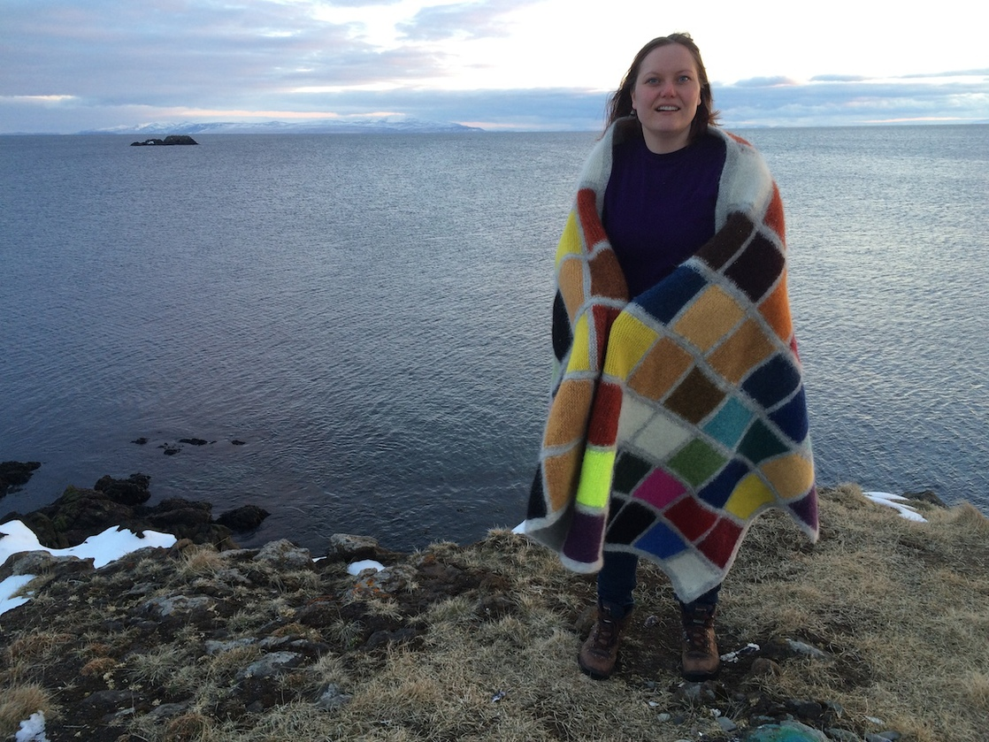 J E N   P E P P E R  2015 . Development of Color Ranges through the Ages Icelandic wool knit, felted + worn by writer Wibeke Bruland (NO)