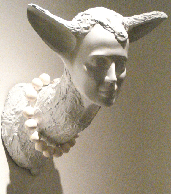 Jerelyn Hanrahan SCULPTURE cast fiberglass,porcelain pearls