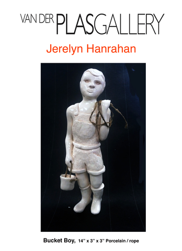 Jerelyn Hanrahan  FIGURINE SERIES 2015 - 2018 porcelain, rope , black granite base
