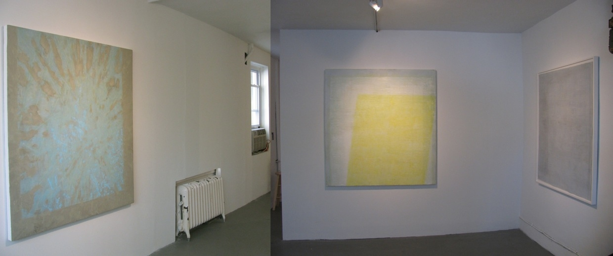 "JESSICA DICKINSON HERE > James Fuentes > 2009 L>R: ""Distance--Come Closer"", ""Here"", ""Screen"""