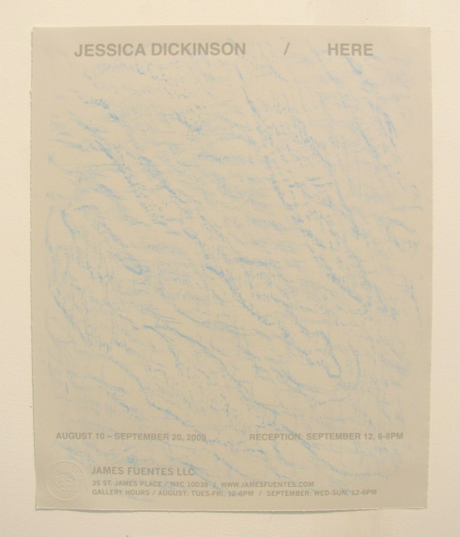 JESSICA DICKINSON HERE > James Fuentes > 2009 wax crayon, screenprint