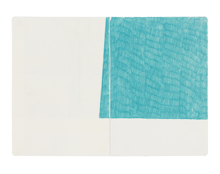 JESSICA DICKINSON notebook drawings colored pencil on paper with linen tape