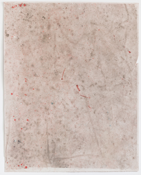 JESSICA DICKINSON traces Dust, oil, graphite, and pastel on paper with holes