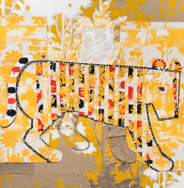 Large Paintings 2016 Pin the Tail on the Tiger