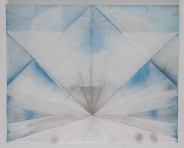 JIEUN JANG Drawing graphite and spray paint on tracing paper