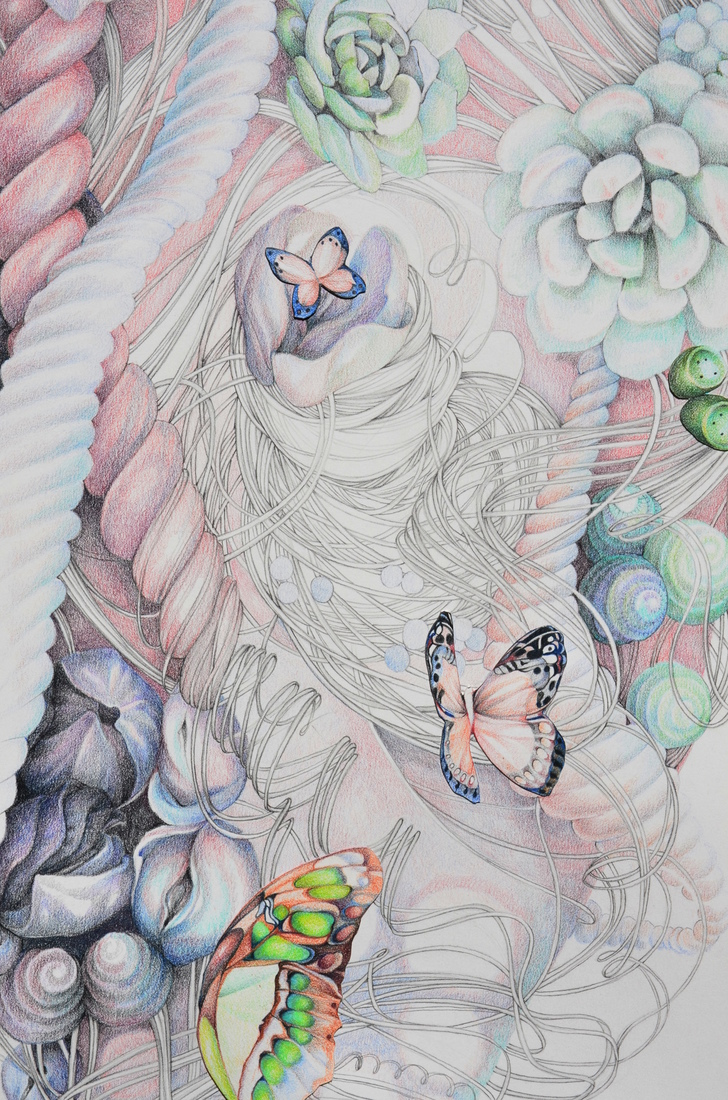 "Jillian Dickson (Ludwig) Color Pencil Drawings: ""BENEATH MY SKIN"" 2012 - Present"