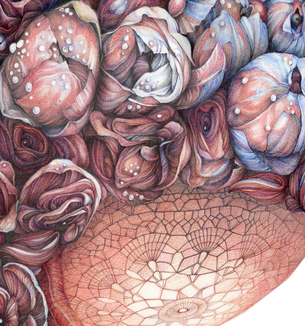 "Jillian Dickson (Ludwig) Color Pencil Drawings: ""BENEATH MY SKIN"""