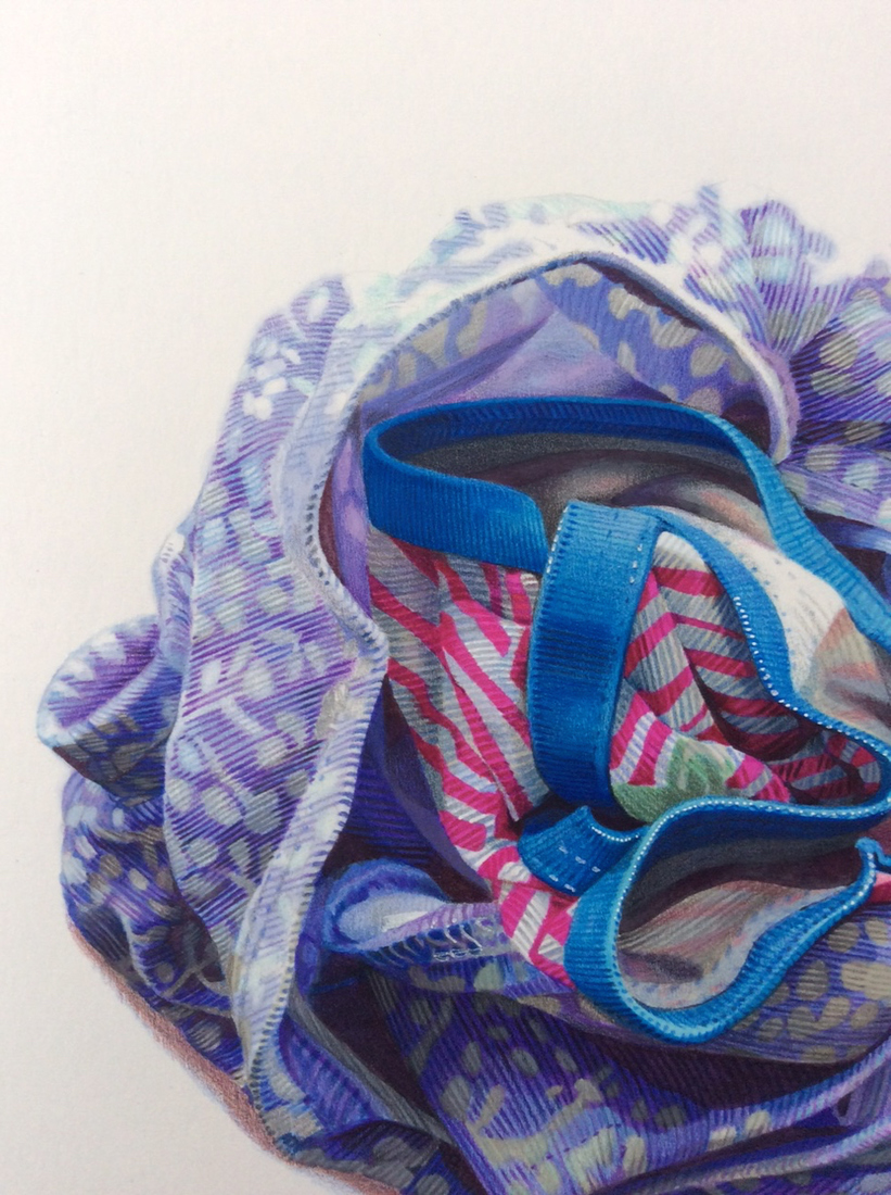 "Jillian Dickson (Ludwig) Marker and Color Pencil Drawings: ""UNDERWEAR"""