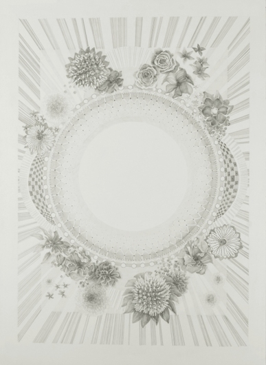 "Jillian Dickson (Ludwig) Graphite Drawings: ""PRICKLED LILLY PERCH"" 2008-12 Graphite on Paper"
