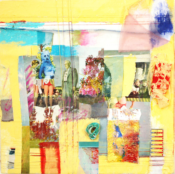 Jill Kirschen Recent Work Acrylic Paint, oil pastel, string, thread, mixed media