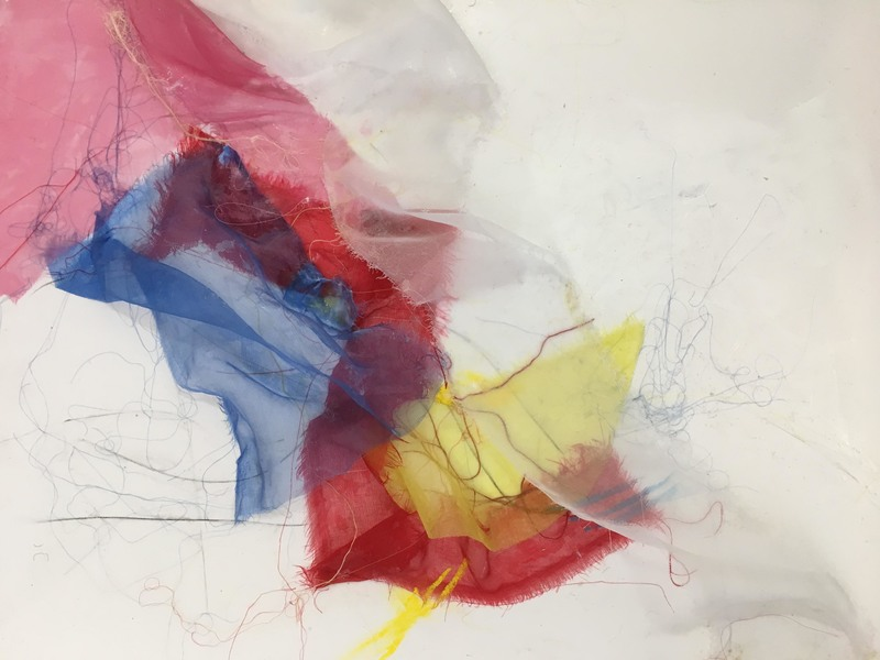 Jill Kirschen Recent Work Silk on Paper