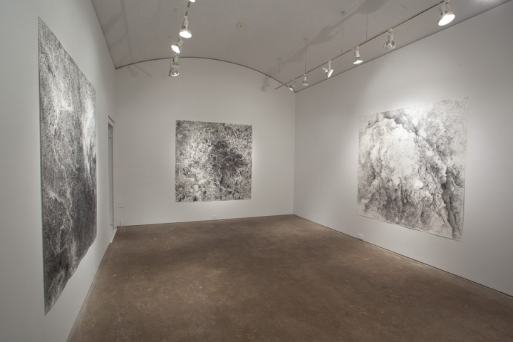 "Jill O'Bryan ""rock, paper, breath"" exhibition all shown drawings: graphite on paper"