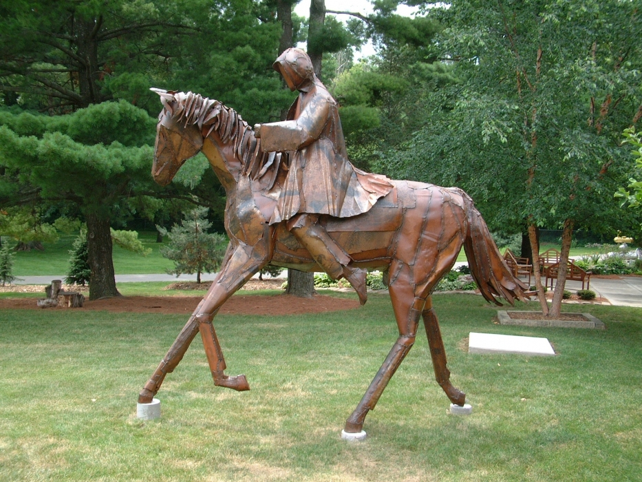 Public Art Horse and Rider
