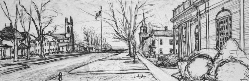 Jim Chillington Landscapes Charcoal on canvas