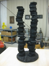 JIM FELICE Sculpture Charred Wood