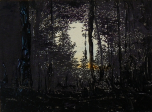 Jim Fultz Landscapes Ink and resin on panel