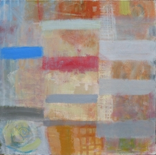 Joan K. Russell GRID Mixed Media on Linen