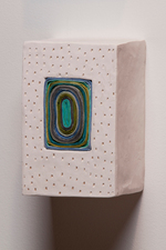 Joan K. Russell Ceramic Sculpture porcelain with pigment stained rice paper