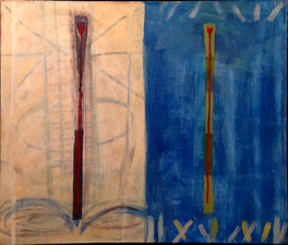 Joan K. Russell 2014 mixed media on canvas