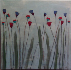 Joan K. Russell 2015 abstract flowers