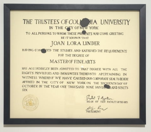 JOAN LINDER cost of living ink on paper