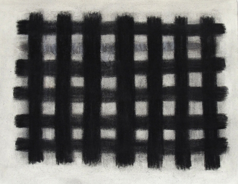 Joan Mellon Paintings on Canvas and Paper 2011 charcoal with erasures on paper