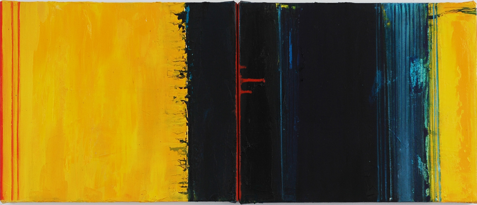 Paintings 2014-2015 Double Black & Yellow
