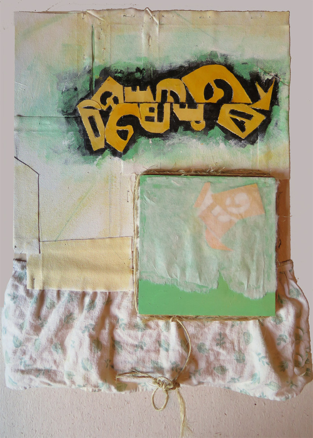 2015 Mixed Media and Collage Lost language 2